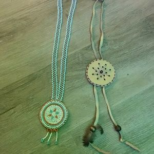 Authentic Native Canadian bead neckpieces